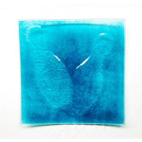Assiette carrée 25x25 Bleu