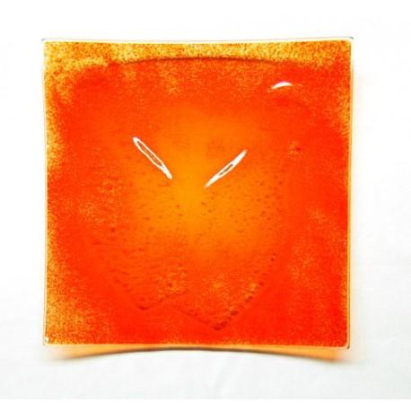 Assiette carrée 25x25 Orange