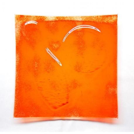 Assiette carrée 30x30 Orange