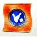 Cendrier Orange&Bleu