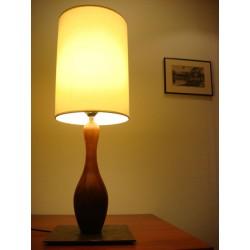 Lampes bois 1 quille Abajour crème forme arrondi(cylo)